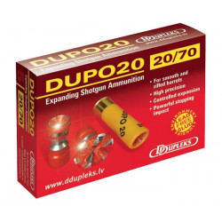 DUPO20-MUNICIÓN EXP. ACERO C.20/70-19,5g-D.Exp.28mm