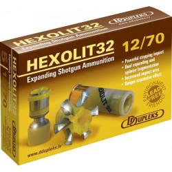 HEXOLIT32-MUNICIÓN ACERO DOBLE EFECTO EXPANSIVA CON FRAGMENTACIÓN C.12/70-32g-D.Exp.36mm